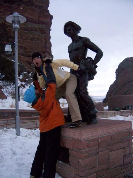 Diversão com estátuas 85