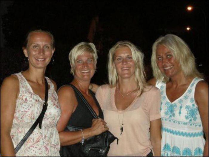 Exibicionista norueguês é dominado por quatro loiras superpoderosas