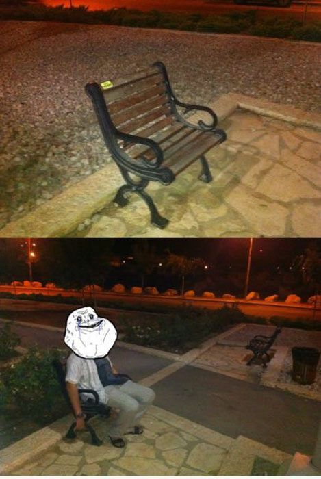 Forever Alone do mundo real 33