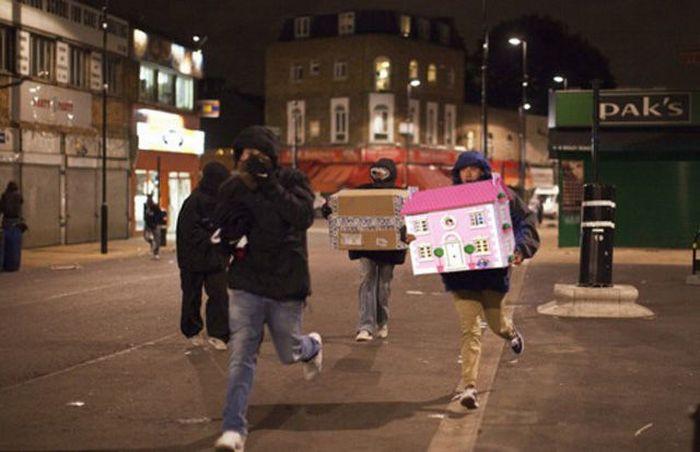 Imagens fotochopadas dos saqueadores de Londres 03