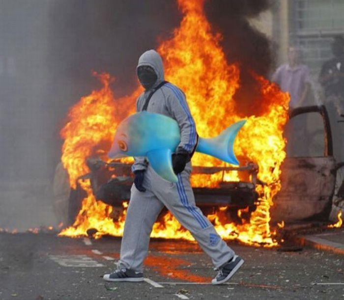 Imagens fotochopadas dos saqueadores de Londres 05