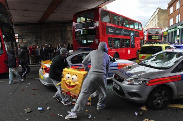 Imagens fotochopadas dos saqueadores de Londres 12
