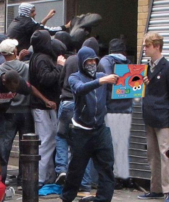 Imagens fotochopadas dos saqueadores de Londres 15