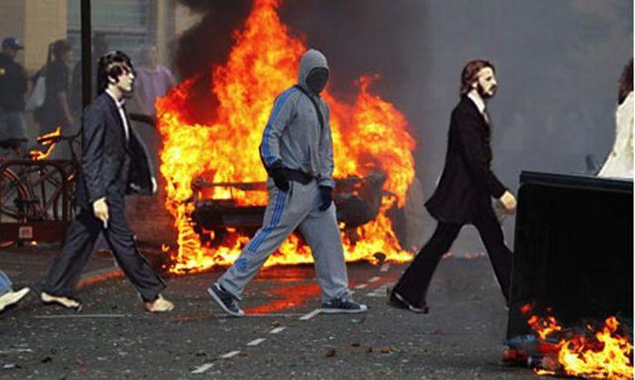 Imagens fotochopadas dos saqueadores de Londres 23