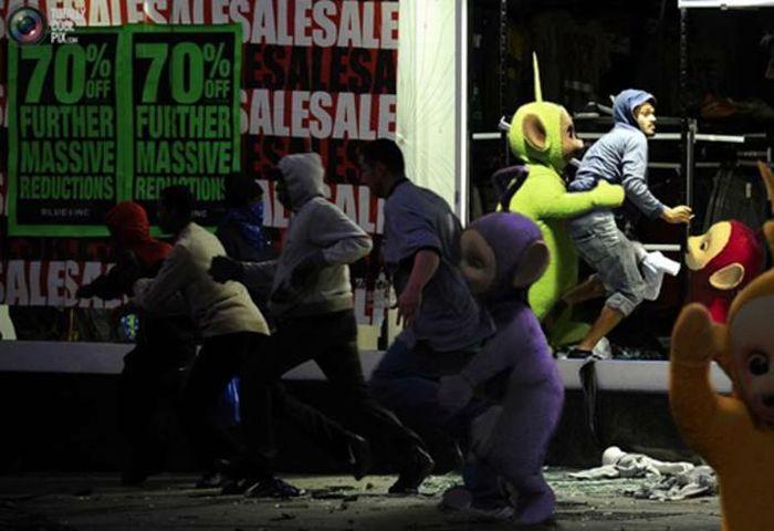 Imagens fotochopadas dos saqueadores de Londres 33