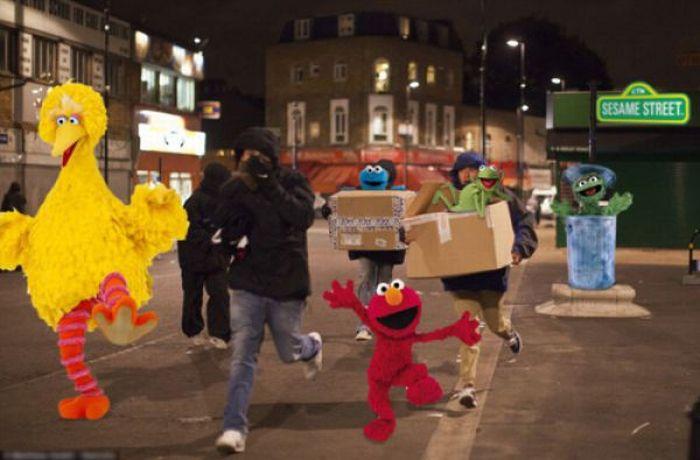 Imagens fotochopadas dos saqueadores de Londres 35