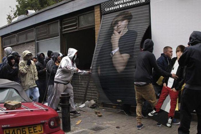 Imagens fotochopadas dos saqueadores de Londres 39