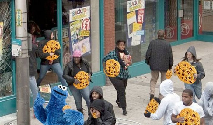 Imagens fotochopadas dos saqueadores de Londres 40