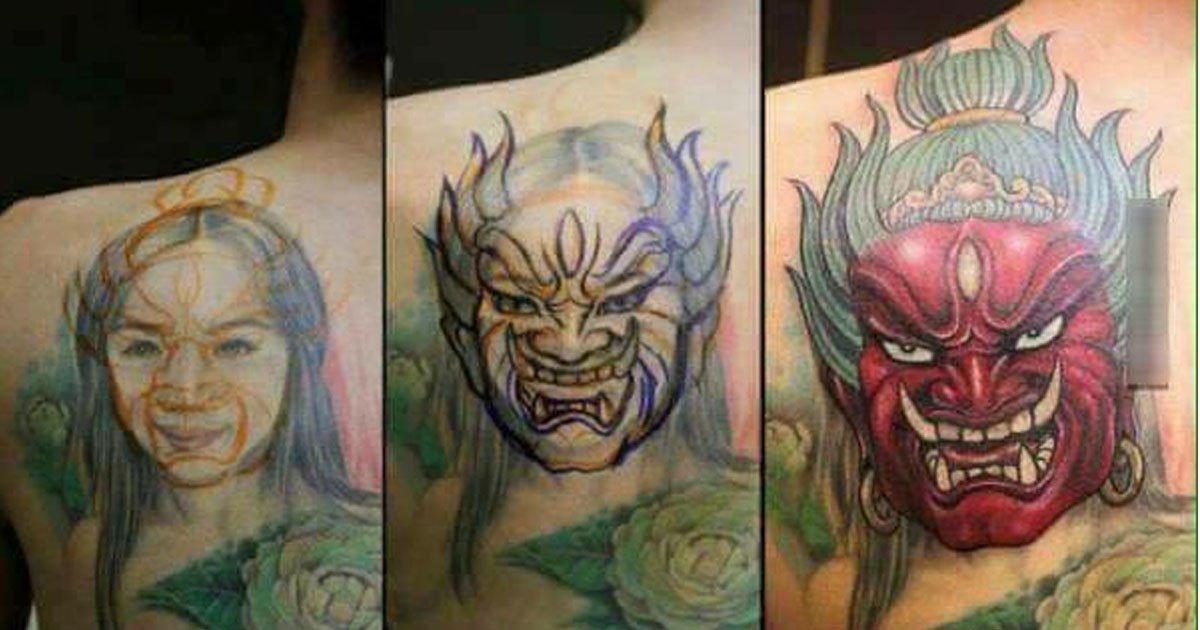 Divertidas tatuagens de ex alteradas depois do fim do relacionamento 01