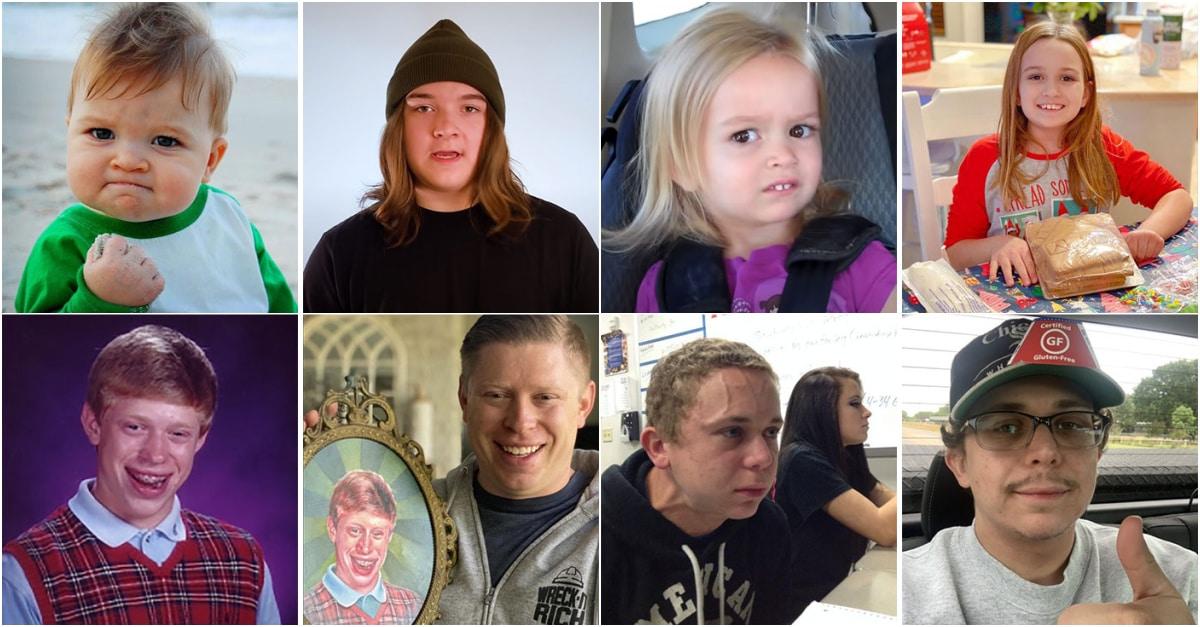 Como mudaram ao longo dos anos alguns dos protagonistas dos memes mais famosos da rede 01