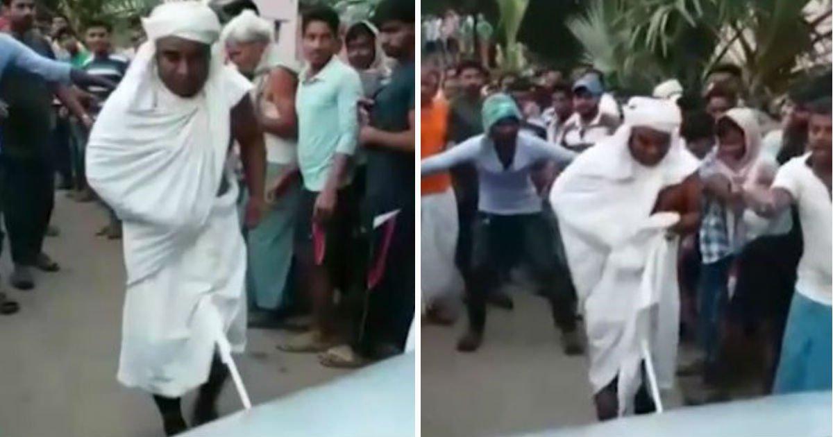 Chupa Superman! Sadhu indiano reboca carro por 30 metros com sua masculinidade