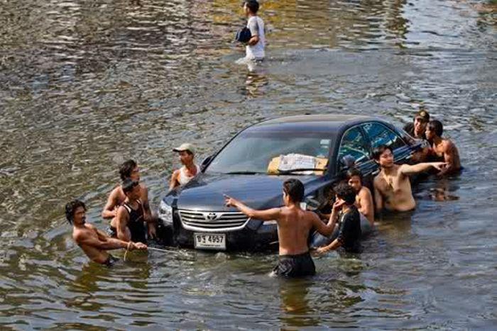 Tailândia está pronta para uma nova inundação 14