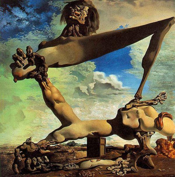 Ilusão de óptica de Salvador Dali