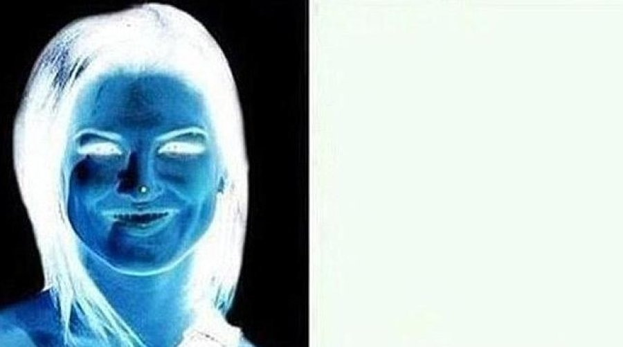 Uma mulher e dois rostos: revelando um negativo com o nosso cérebro