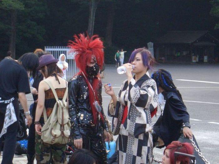 A extravagância da espalhafatosa juventude japonesa 66