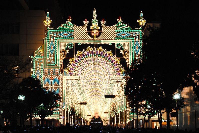 O festival de luz Kobe Luminarie, no Japão 09