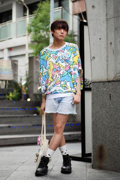 Japonês estranho com roupa esquisita 18
