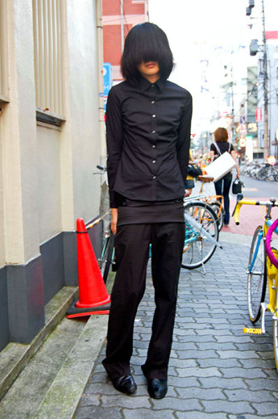 Japonês estranho com roupa esquisita 44