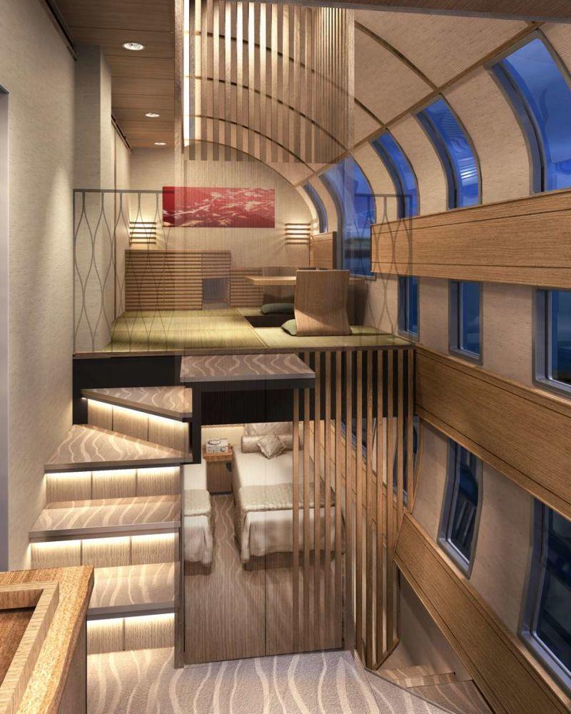 O interior do Shiki-shima: o trem mais luxuoso do mundo que atravessa o Japão 07