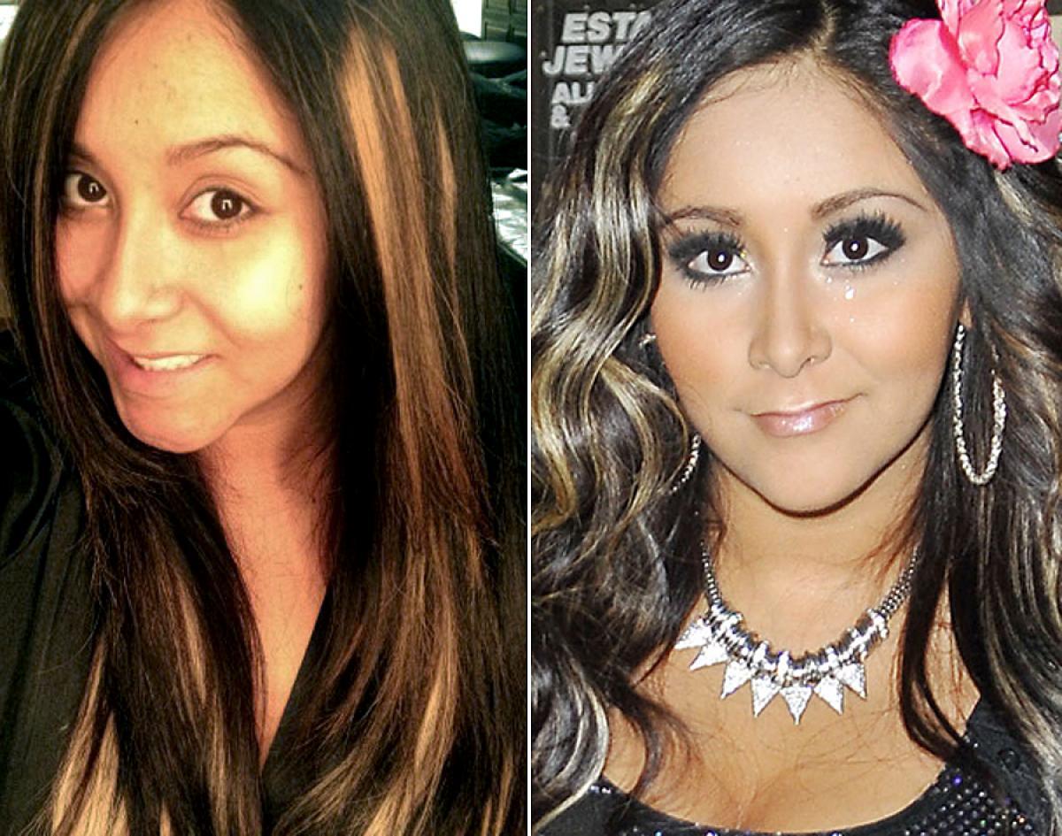 Celebridades com e sem maquiagem 51