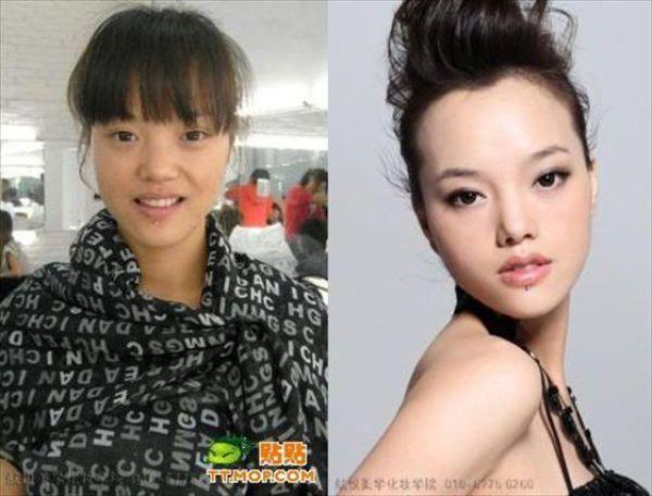 Mais antes e depois da maquiagem de garotas asiáticas 04