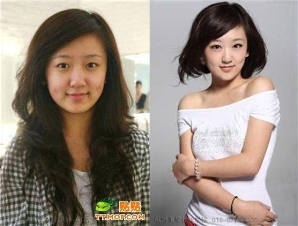 Mais antes e depois da maquiagem de garotas asiáticas 05