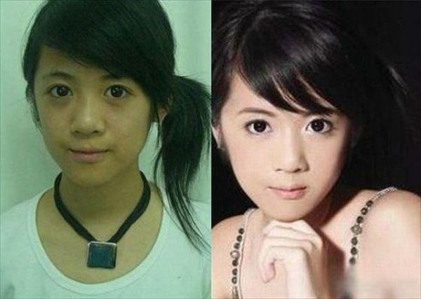 Mais antes e depois da maquiagem de garotas asiáticas 08