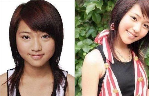 Mais antes e depois da maquiagem de garotas asiáticas 10