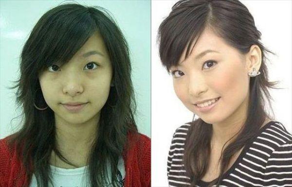 Mais antes e depois da maquiagem de garotas asiáticas 11