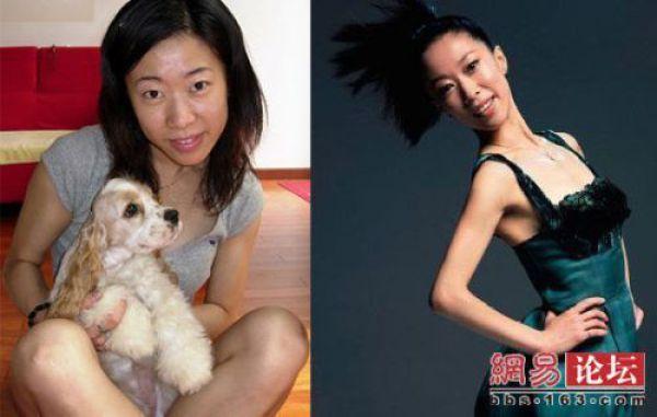 Mais antes e depois da maquiagem de garotas asiáticas 27