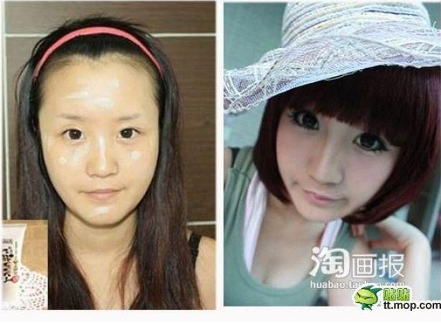 Mais antes e depois da maquiagem de garotas asiáticas 31