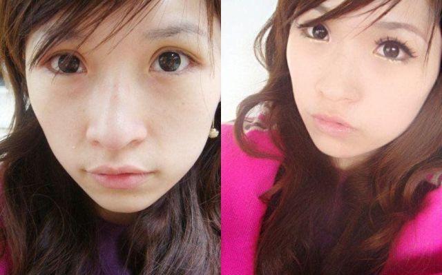 Mais antes e depois da maquiagem de garotas asiáticas 49
