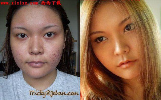 Mais antes e depois da maquiagem de garotas asiáticas 58