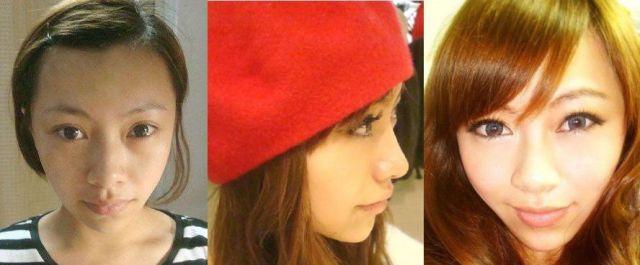 Mais antes e depois da maquiagem de garotas asiáticas 62