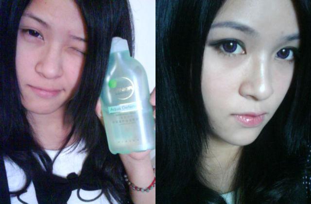 Mais antes e depois da maquiagem de garotas asiáticas 65