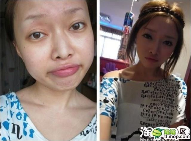 Mais antes e depois da maquiagem de garotas asiáticas 67