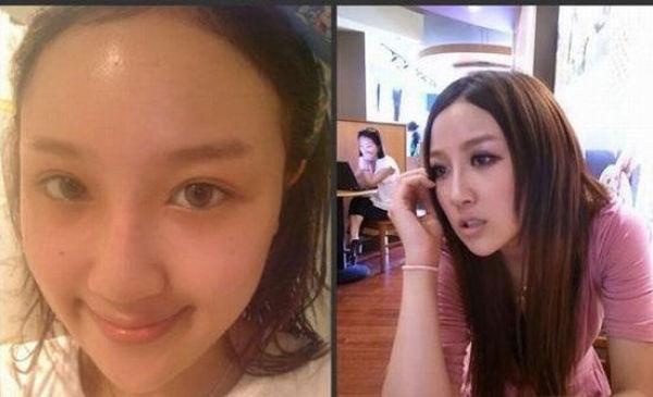 Mais antes e depois da maquiagem de garotas asiáticas 68