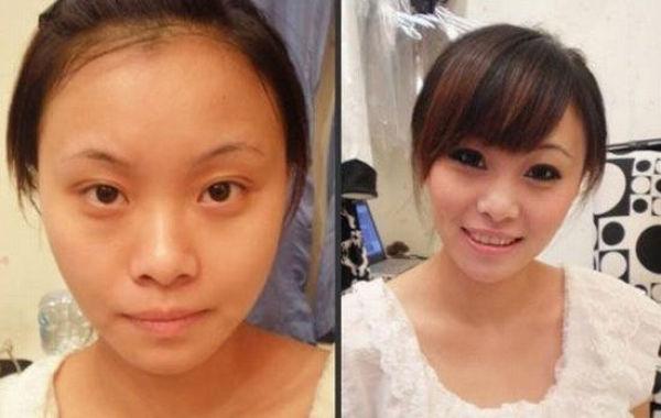 Mais antes e depois da maquiagem de garotas asiáticas 70