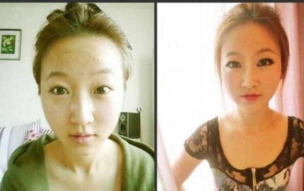Mais antes e depois da maquiagem de garotas asiáticas 73