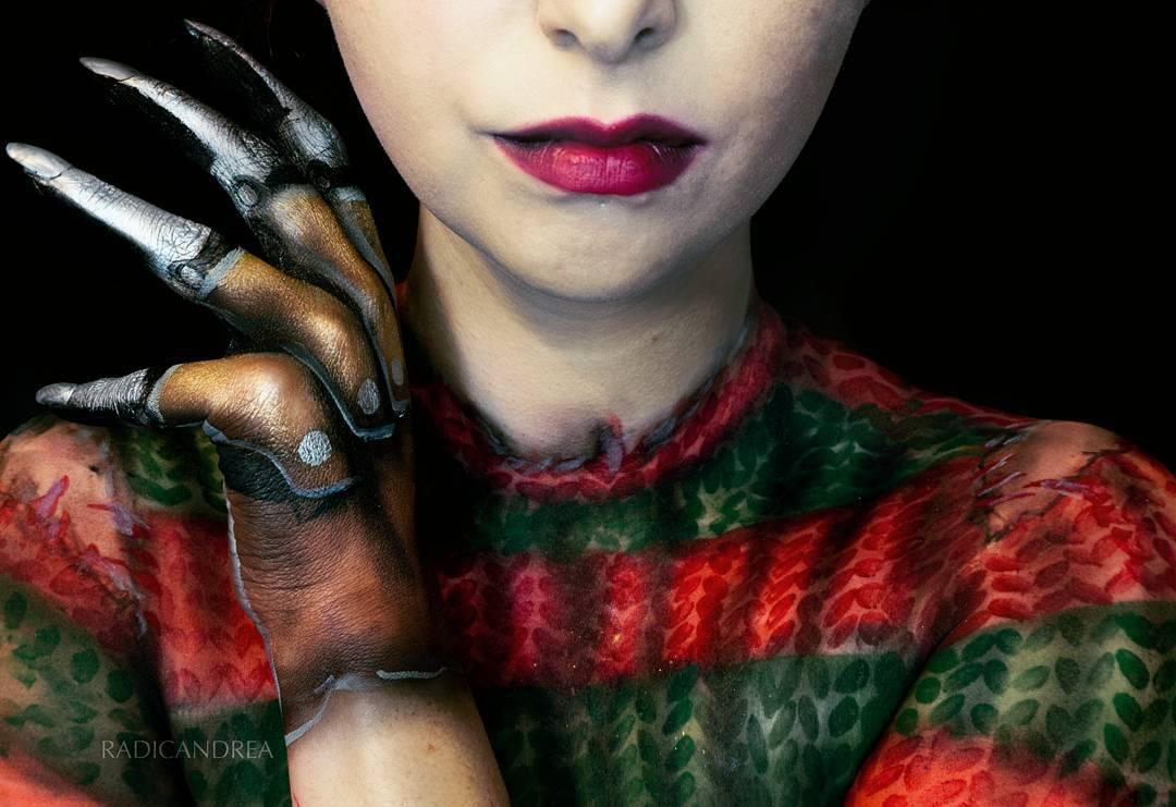 Esta maquiadora se transforma em terr�veis monstros de pesadelo 07