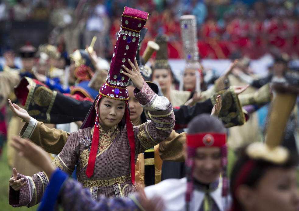Naadam, os três jogos masculinos da Mongólia em 2012 16