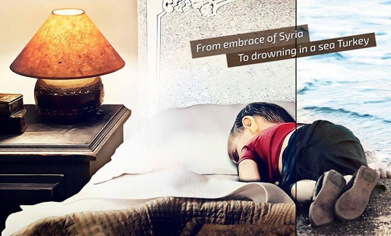 Artistas de todo mundo respondem � tr�gica morte de um menino refugiado s�rio 10