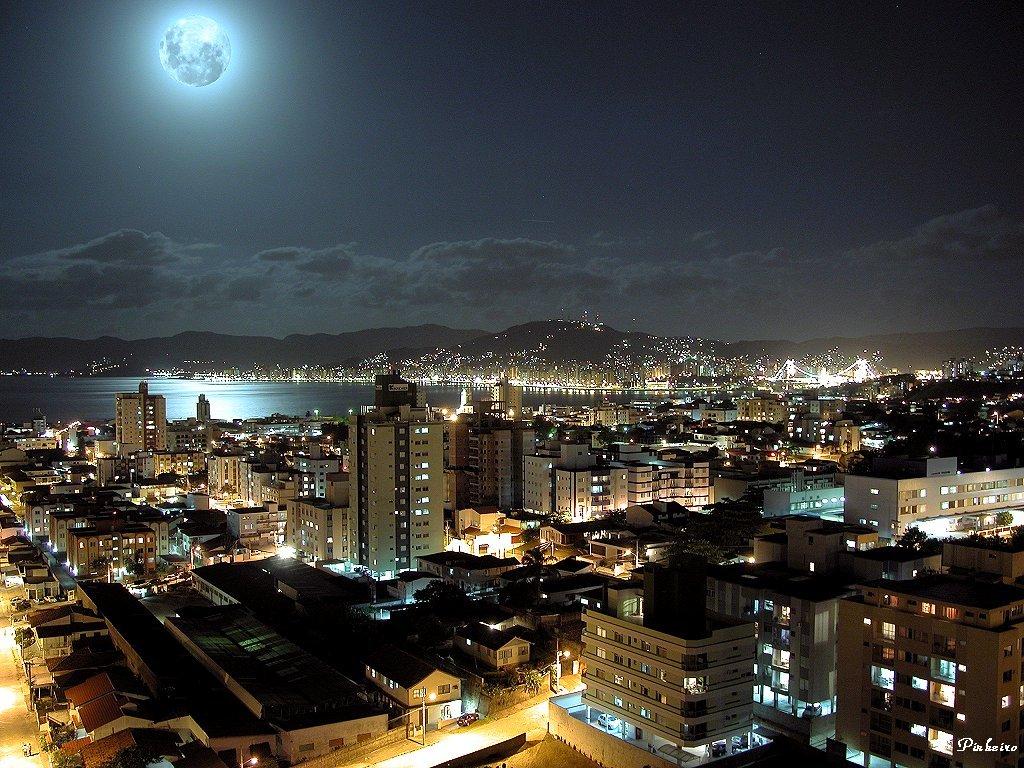 Atrações do mundo à noite