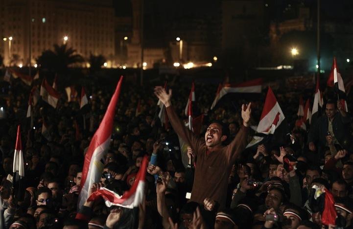Celebração dos manifestantes egípcios 02