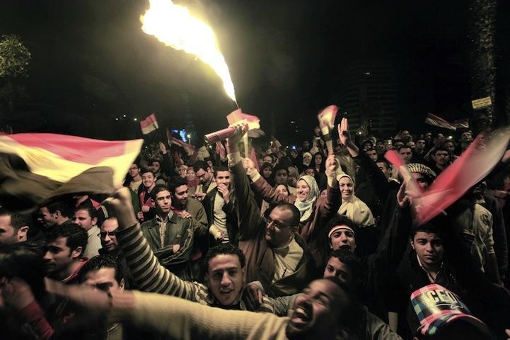 Celebração dos manifestantes egípcios 04