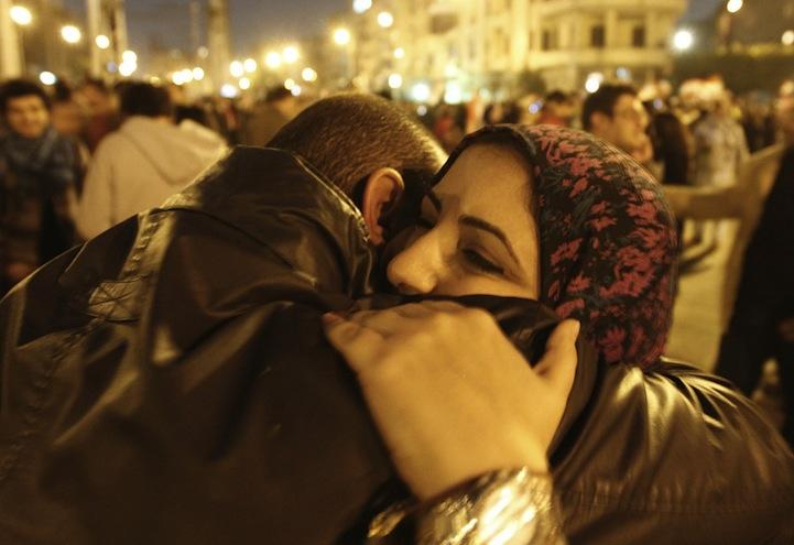 Celebração dos manifestantes egípcios 05