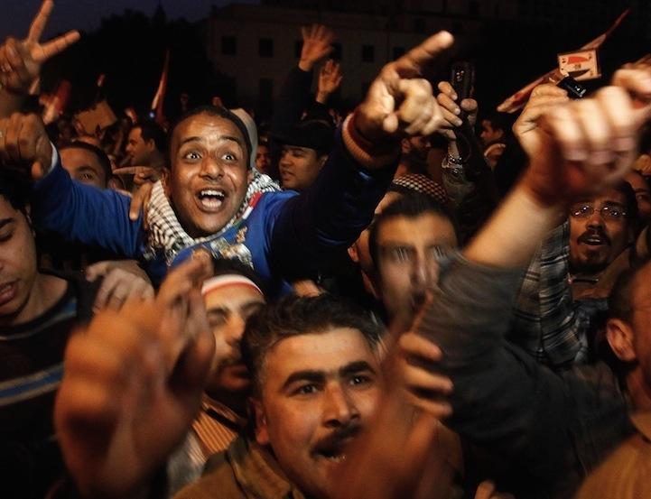 Celebração dos manifestantes egípcios 06
