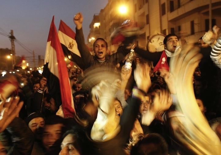 Celebração dos manifestantes egípcios 07
