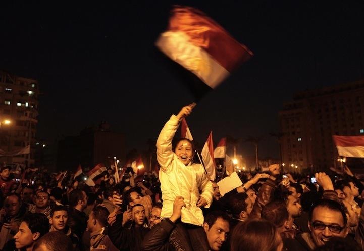Celebração dos manifestantes egípcios 09