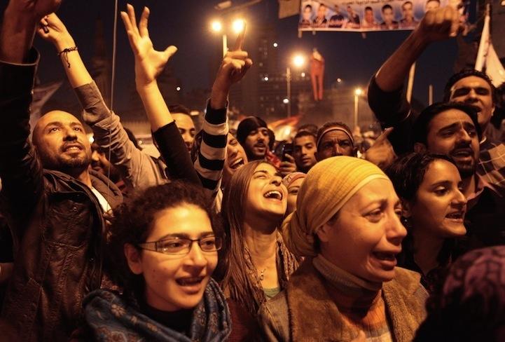 Celebração dos manifestantes egípcios 10